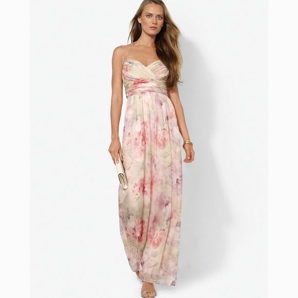 Lauren Ralph Lauren Dresses & Skirts - Lauren Ralph Lauren floral Evening dress size 10